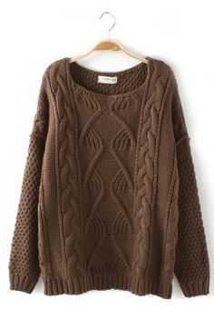 twist wave long sweater