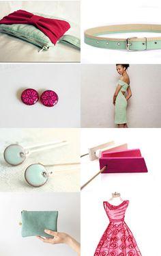 Magical mint wardrobe by BeLuli Designer on Etsy