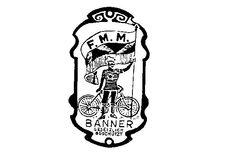 F.M.M. Banner gesetzlich geschützt  Die 1903 von Fritz Melchior gegründete Großhandlung vereinte in den 1930er Jahren zahlreiche Magdeburger Fahrradmarken.