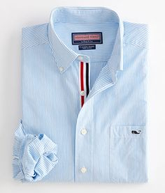Tucker Sport Shirt: Edgartown Stripe – Vineyard Vines, one of my farthers day gifts.