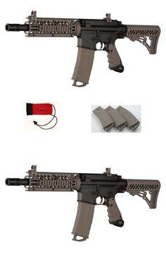 Marker Packages 47248 New Tippmann Tmc Tactical Magfed Paintball Gun Black Tan Magazine Mag Fed