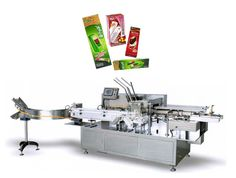 Automatic Ice Cream Boxing Machine.  Use PLC electric control each parts.