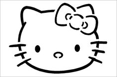 Love this Hello Kitty pumpkin carving stencil so that you can carve the likeness of this super cute kitty in your Halloween pumpkin. This site has hundreds of pumpkin carving templates from Disney characters to Star Wars. Pumpkin Template, Pumpkin Carving Templates, Halloween Pumpkins, Halloween Crafts, Vintage Halloween, Halloween Labels, Vintage Witch, Halloween Halloween, Halloween Makeup