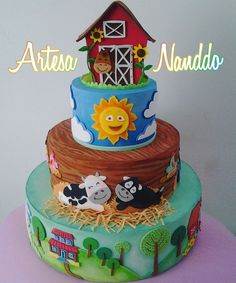2nd Birthday, Birthday Parties, Farm Animal Cakes, Farm Cake, Torte Cake, Kids C, Party Time, Lunch Box, Instagram Posts