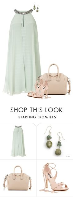 """Sea Foam"" by lisa-holt ❤ liked on Polyvore featuring Adrianna Papell and Givenchy"