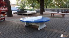 Pingpongtafel Rond Blauw bij Grundschule Theodor Fontane in Hennigsdorf