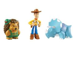 """Toy Story Hero Woody, Trixie and Mr.Pricklypants Figure 3-Pack by Mattel. $10.55. Includes three 2"""" stylized figures. Good things come in threes. Collect them all for ultimate fun. Inspired by Disney/Pixar's Toy Story Films. Kids can re-create their favorite scenes from the movies. From the Manufacturer                Toy Story Hero Woody, Trixie and Mr. Pricklypants Figure 3-Pack: Good things come in threes. These 2"""" stylized figures come teamed up with their fav..."""