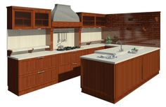 Revit Families for Architecture: Kitchen Revit Software, Autocad Revit, 20x30 House Plans, Revit Family, Kitchen Bar Design, Revit Architecture, Functional Kitchen, Furniture Decor, Sweet Home