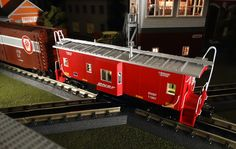 MTH Spotlight http://mthtrains.com/railking/spotlight/10_2015/f In the yard today the just arrived MTH RailKing O Gauge Bay Window Caboose. These bay window cabooses come in CSX 30-7727-1, BNSF 30-77272, Chicago and North Western 30-77274, and Erie Lackawanna 30-77273. The RailKing Bay Window Caboose operates on O-31 curves and these current models have a MSRP of $64.95. Ask your MTH Dealer about getting a RailKing Bay Window Caboose today.