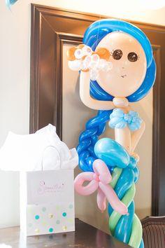 Mermaid balloon from Mermaids & Pirates Birthday Party at Kara's Party Ideas. See the whole shindig at karaspartyideas.com!