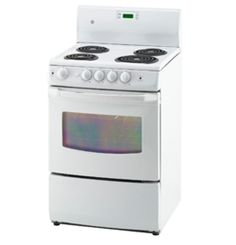 """JCAS730MWW by General Electric Canada in Winnipeg, MB - GE 24"""" Free Standing Electric Standard Clean Range Shop JS Furniture Gallery for all your appliance needs.  1725 Ellice Avnue, Winnipeg, http://furnitureandmore.ca"""