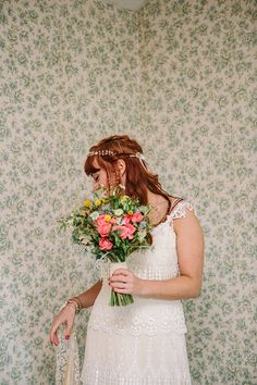 Bohemian Outdoor Tipi Wedding  Claire Pettibone Dress Bride http://www.sarahjanesphotography.co.uk/