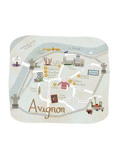 Anne Smith - Avignon Map