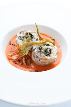 A second course based on tasty and beautiful fish: sea bass roll with …- A sec… – Fishsea Food Lobster Restaurant, Meat Recipes, Gourmet Recipes, Healthy Recipes, Food Design, Fish Recipes For Kids, Food Porn, Fish Dinner, Chicken