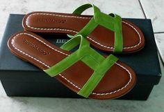 Bernardo Whitney Flat Sandal Patent leather upper Leather sole  #Bernardo #Flat