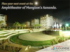 Behold this mesmerizing view of Manglam's Aananda Amphitheater. Even the moon shining above is adding virtue to the beauty of this picture. This amphitheater allows the residents of ‪#‎Manglam‬ Aananda to organize events in open space with grandeur. Don't you wish to be a part of such a community where there is a space for everything that makes you a center of attraction? Call 0141-4311153 for project details or visit http://bit.ly/1RMDDYZ today!