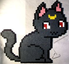 Luna - Sailor Moon hama beads by Lywen64