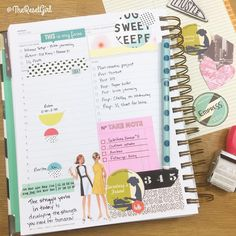 «Today in my daily @thedaydesigner planner (flagship edition). Using a combination of stickers from The Reset Girl, The Planner Society kit, washi, vintage…»