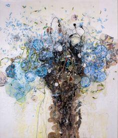 Textile Artist Brigitte Picavet Salix alba heavy flowers Brigitte Picavet interview: Recycling the useless