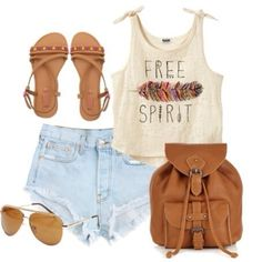 Cute outfit. Love it for a festival/concert✌️️.