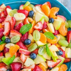 Fruit Salad with Orange Poppy Seed Syrup