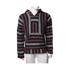 Chill out with the laid back comfort and style of the new Baja Poncho for guys. The Baja Poncho rocks a thick, woven, hoodie style, with a multicolored stripe design, and front kangaroo hand pocket to keep your paws nice and toasty. Available only at Journeys!