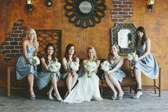 modern grey/blue Daytona Beach wedding by Monika Gauthier via Floridian Weddings