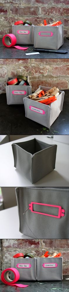DIY FABRIC BOXES Could they be made larger perhaps with fusible interfacing for structure? Good for spots that need made to measure containers.