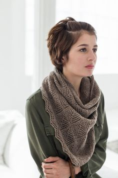 Modèle de tricot - Brooklyn Tweed Châle Halligarth