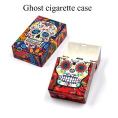 Skull Head Ghost Cigar Cigarette Box Cases Hot Sale for Tobacco Smoke Smoker Glass Bong Water Pipe Drop Shipping #Affiliate https://420weedmart.com