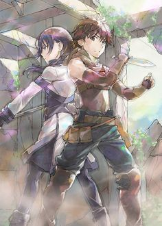 The official website for the ongoing TV anime adaptation of Ao Jumonji's fantasy light novel series Hai to Gensou no Grimgal/Grimgar of Fantasy and Ash has updated with its third main visual featuring Haruhiro and Merry. (Feb 2016)