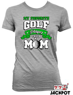 This shirt is perfect for all you proud golf mothers. Cheer you kid on with this great Golf Mom Shirt. Design is available in many sizes and colours.