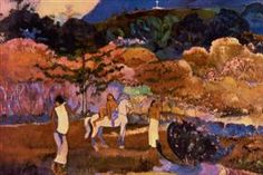 Women and white horse - Paul Gauguin