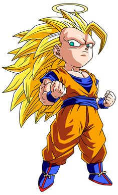 Cute little Super Saiyan 3 Goku <3