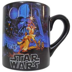 Star Wars Mug ($10) ❤ liked on Polyvore featuring home, kitchen & dining, drinkware, food, kitchen, mugs, star wars, star wars mug and wizard of oz mug