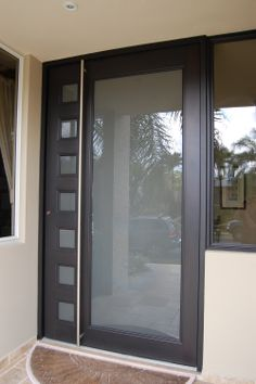 Aluminum entrance door - pivot