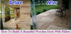 How To Build A Beautiful Wooden Deck With Pallets Pallets have been very much in trend nowadays.With an estimated 2 billion pallets being used every day, and many more just lying around, no wonder there are so many projects that can be done using pallets. Everyone prefers to have at least one kind o…