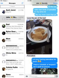 So the pancakes are full of puns?