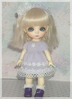 Lati Yellow PukiFee Luts Tiny Delf Dolls Lavender by JCsTinyTreasures, $22.00