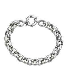 Loving this Sterling Silver Link Bracelet on #zulily! #zulilyfinds