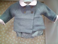 So adorable with the romper collar peeking out! Little Boy Fashion, Baby Boy Fashion, Kids Fashion, Toddler Outfits, Baby Boy Outfits, Kids Outfits, Baby Boy Knitting Patterns, Knitting For Kids, Knitted Baby Clothes