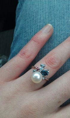 Pearl Engagment Ring..i want my future man to put this ring on my finger when he is ready to spend the rest of his life with me!!...