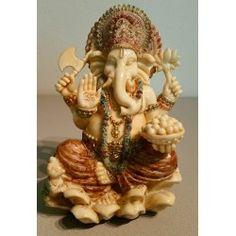 Ganesha zittend, ivoor-look 15 cm