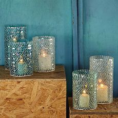 Blue Home Accessories Accents Eastoakdecor Ocean Themed Rooms Iridescent