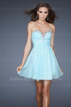 0116178d8e Short Junior Ice Blue A-Line Strapless Homecoming Dresses 2013 Dress Prom
