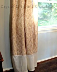 Lengthening curtains that are too short.