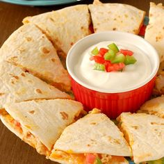 Buffalo Chicken Quesadillas | foodvee