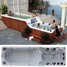 二層式ジャグジー、フラットテレビ、水中サウンドシステム、バーラウンジ完備のバスタブ