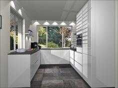 visual U-Keuken 265x275x307cm, keukenmeubelen, 5 inbouwapparaten, composiet werkblad