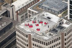 "This ""extreme urban campsite"" on a London rooftop was designed as a demonstration for cash-crunched Brits."